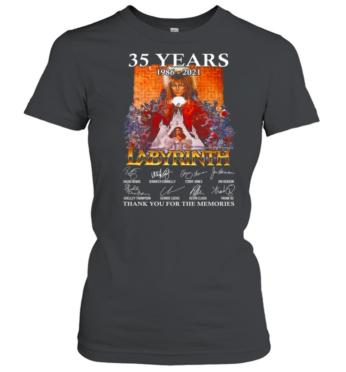 35 Years 1986 2021 Labyrinth Thank You For The Memories shirt Classic Women's T-shirt
