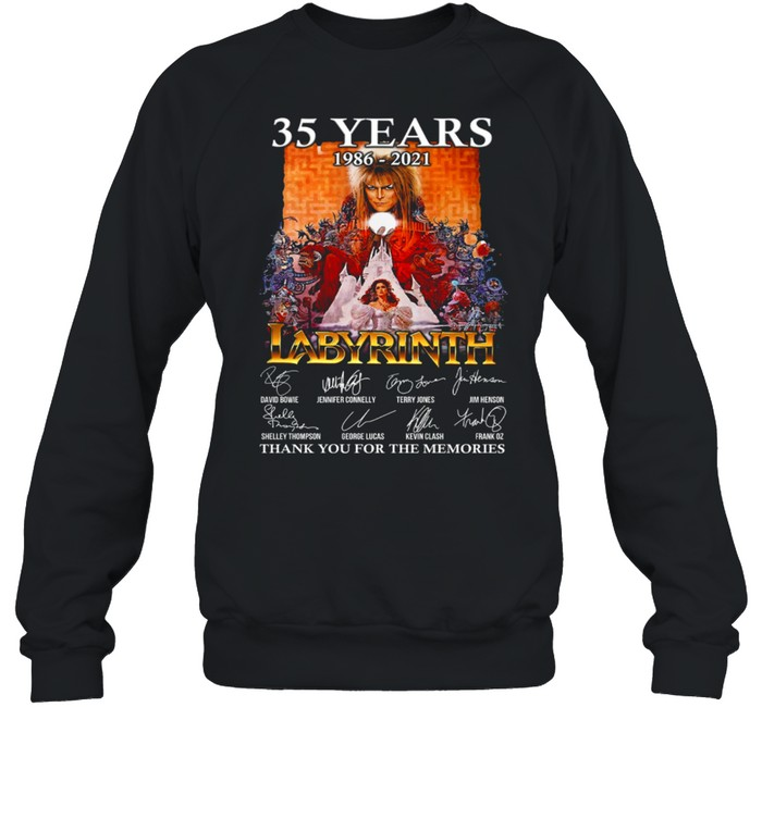 35 Years 1986 2021 Labyrinth Thank You For The Memories shirt Unisex Sweatshirt
