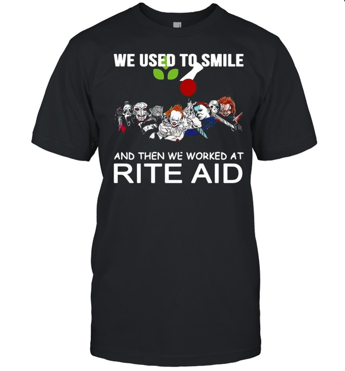 We Used To Smile And Then We Worked At Rite Aid Halloween T-shirt Classic Men's T-shirt