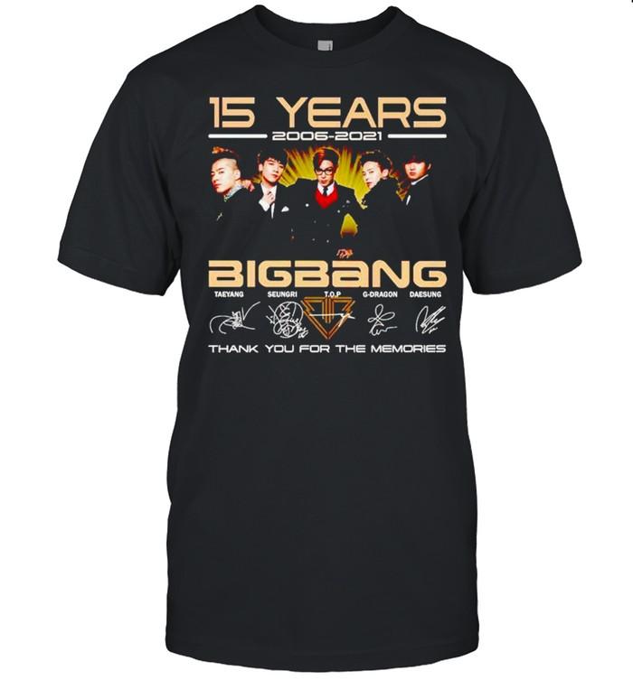 15 years Big Bang 2006 2021 thank you for the memories shirt Classic Men's T-shirt