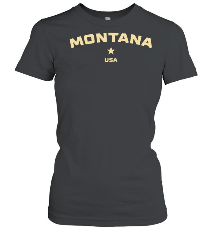US States Montana Hometown MT Homeland Patriotic American shirt Classic Women's T-shirt