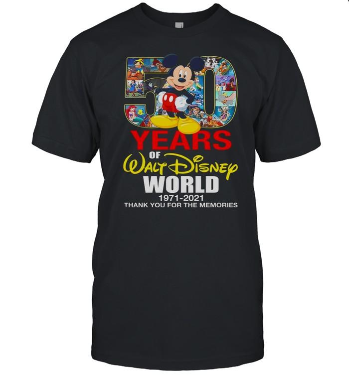 50 years of walt disney 1971 2021 thank you for the memories shirt Classic Men's T-shirt