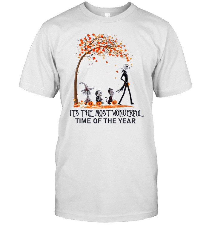 Jack Skellington Maple Leaves Tree It's The Most Wonderful Time Of The Year  Classic Men's T-shirt