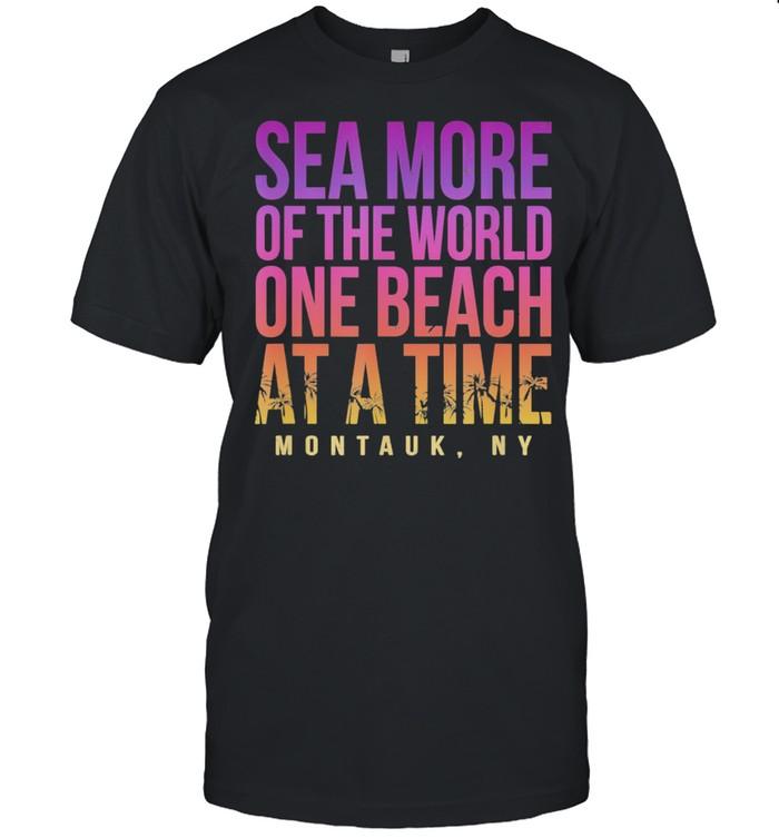 One Beach at a Time Montauk Summer New York Tropical shirt Classic Men's T-shirt