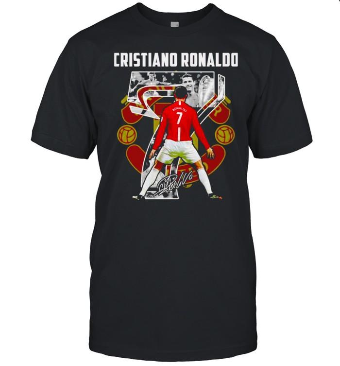 Man United Cristiano Ronaldo signature shirt Classic Men's T-shirt