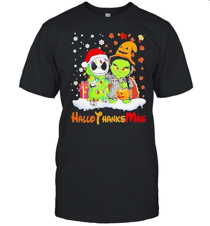 Baby Jack Skellington And Baby Grinch Hallothanksmas  Classic Men's T-shirt