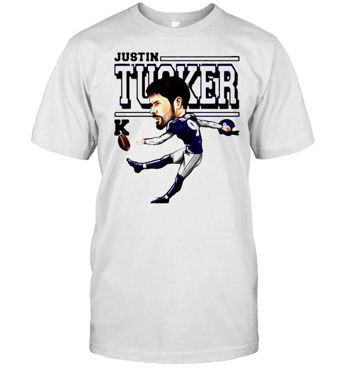Justin Tucker Baltimore Ravens Cartoon shirt Classic Men's T-shirt