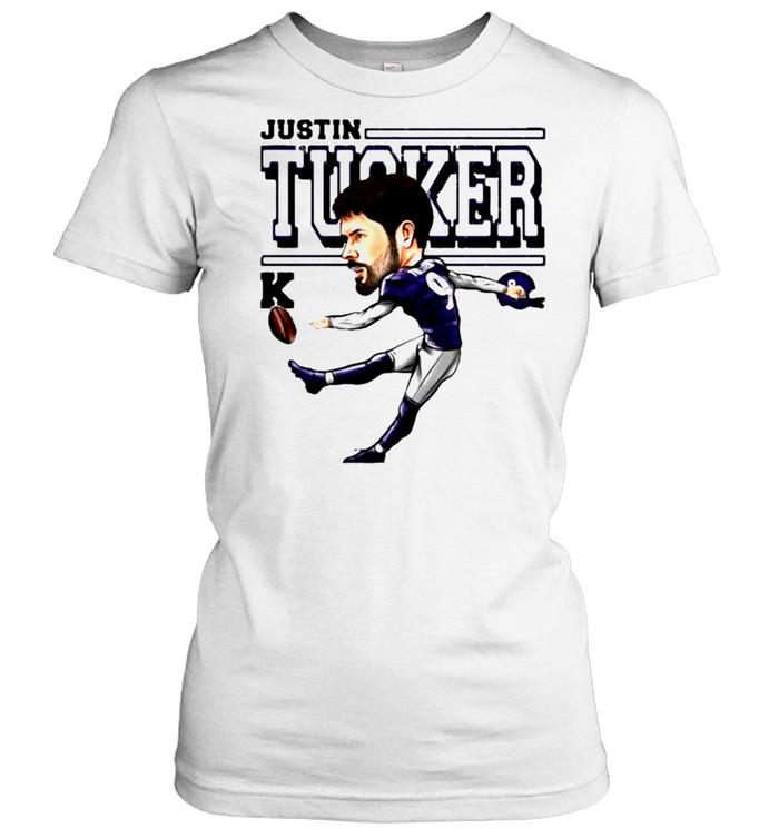 Justin Tucker Baltimore Ravens Cartoon shirt Classic Women's T-shirt