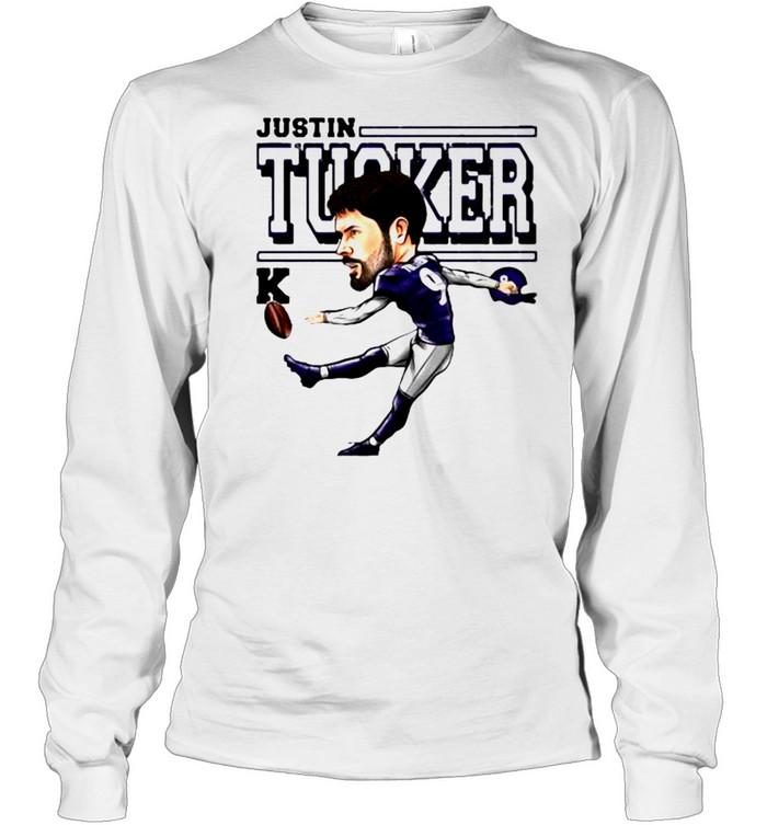 Justin Tucker Baltimore Ravens Cartoon shirt Long Sleeved T-shirt