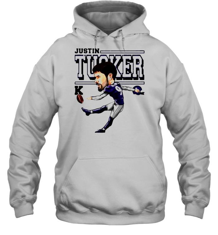 Justin Tucker Baltimore Ravens Cartoon shirt Unisex Hoodie