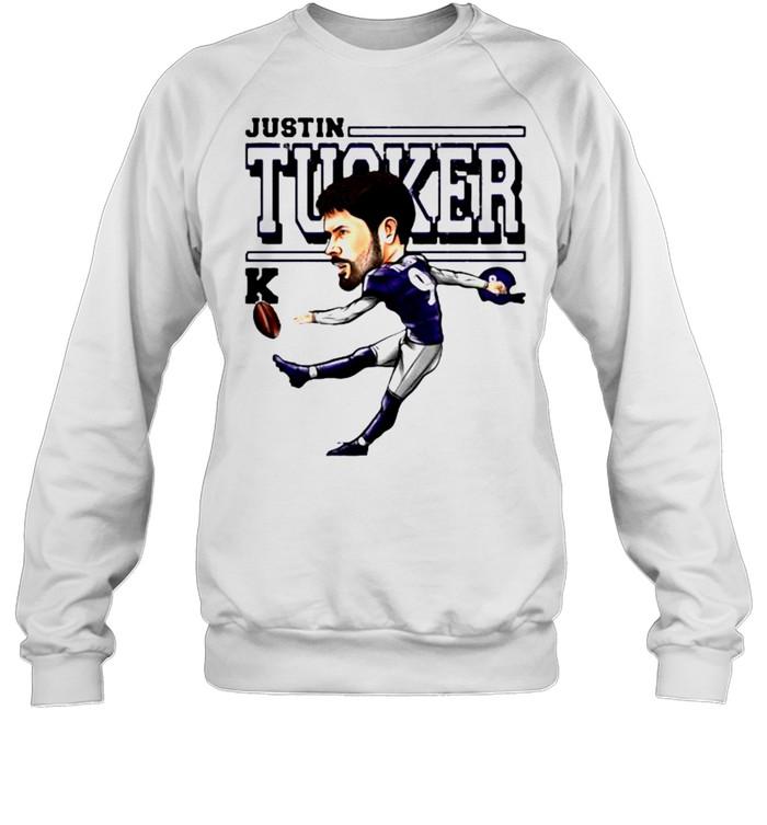 Justin Tucker Baltimore Ravens Cartoon shirt Unisex Sweatshirt