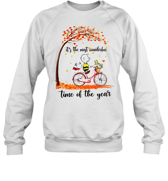 Snoopy And Peanuts It's The Most Wonderful Time Of The Year T-shirt Unisex Sweatshirt