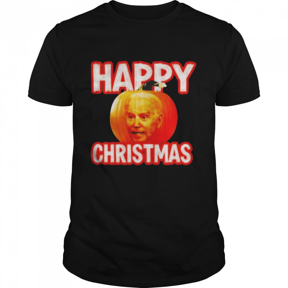 Biden pumpkin Happy Christmas Halloween shirt Classic Men's T-shirt