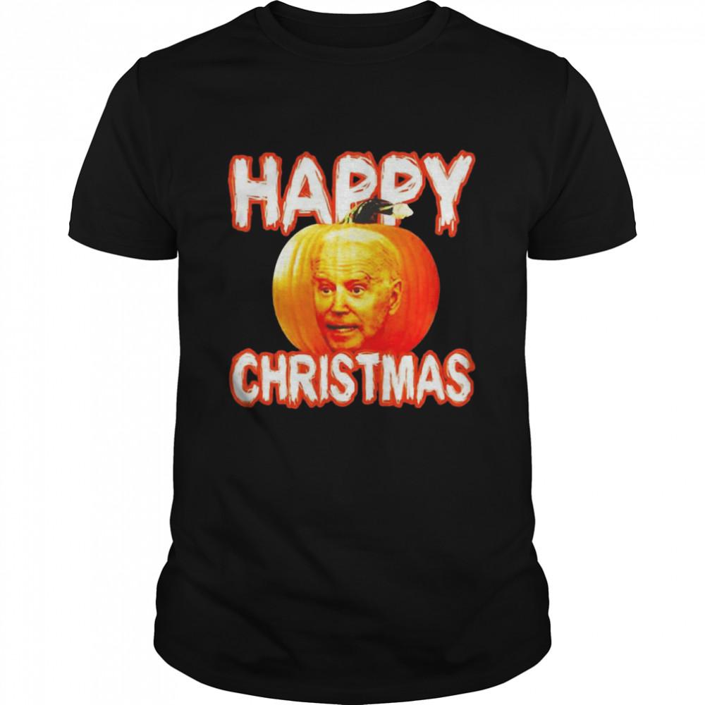 Halloween Joe Biden Pumpkin Happy Christmas T-shirt Classic Men's T-shirt