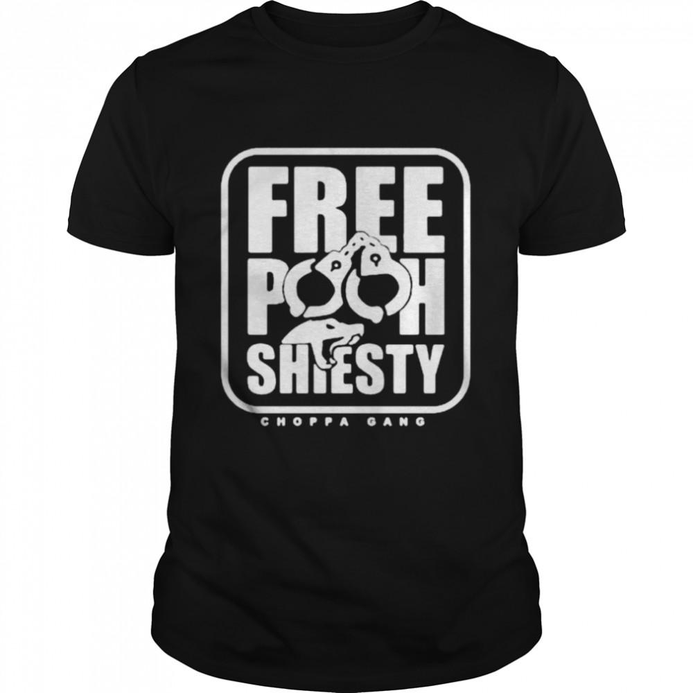 Free Pooh Shiesty Choppa Gang shirt Classic Men's T-shirt