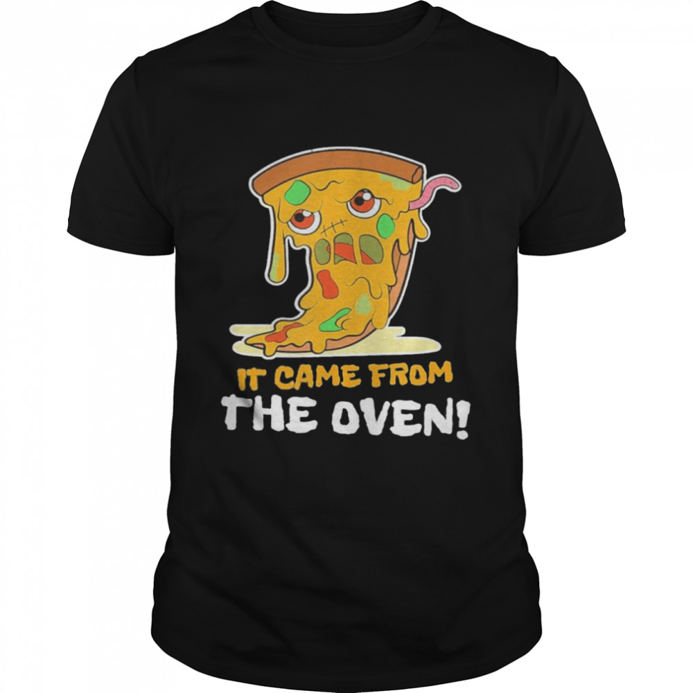 It Came From The Oven I Pizza Zombie Food Kawaii shirt Classic Men's T-shirt