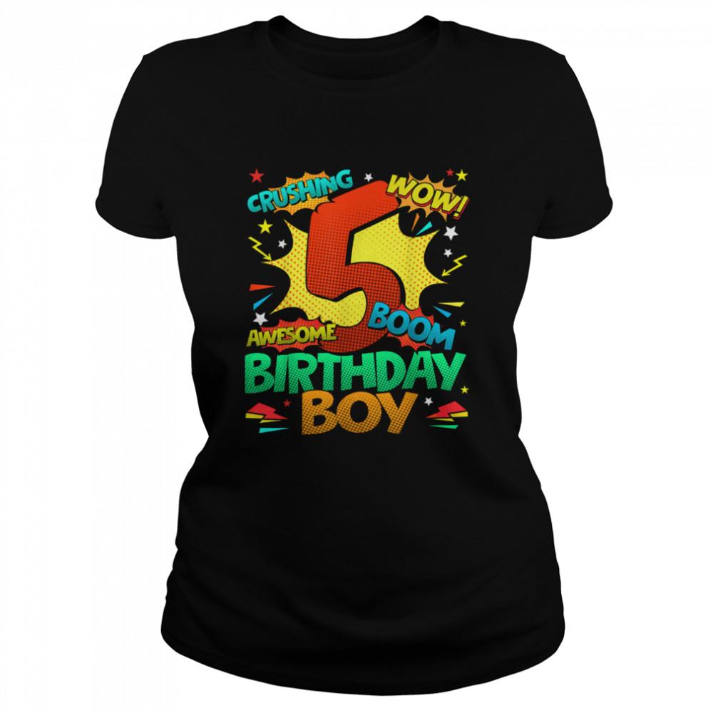 5th Birthday Kids Comic Style Kids Boys 5th Birthday shirt Classic Women's T-shirt