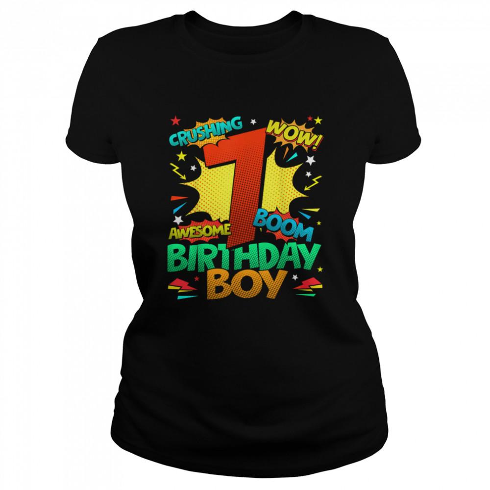7th Birthday Kids Comic Style Kids Boys 7th Birthday shirt Classic Women's T-shirt