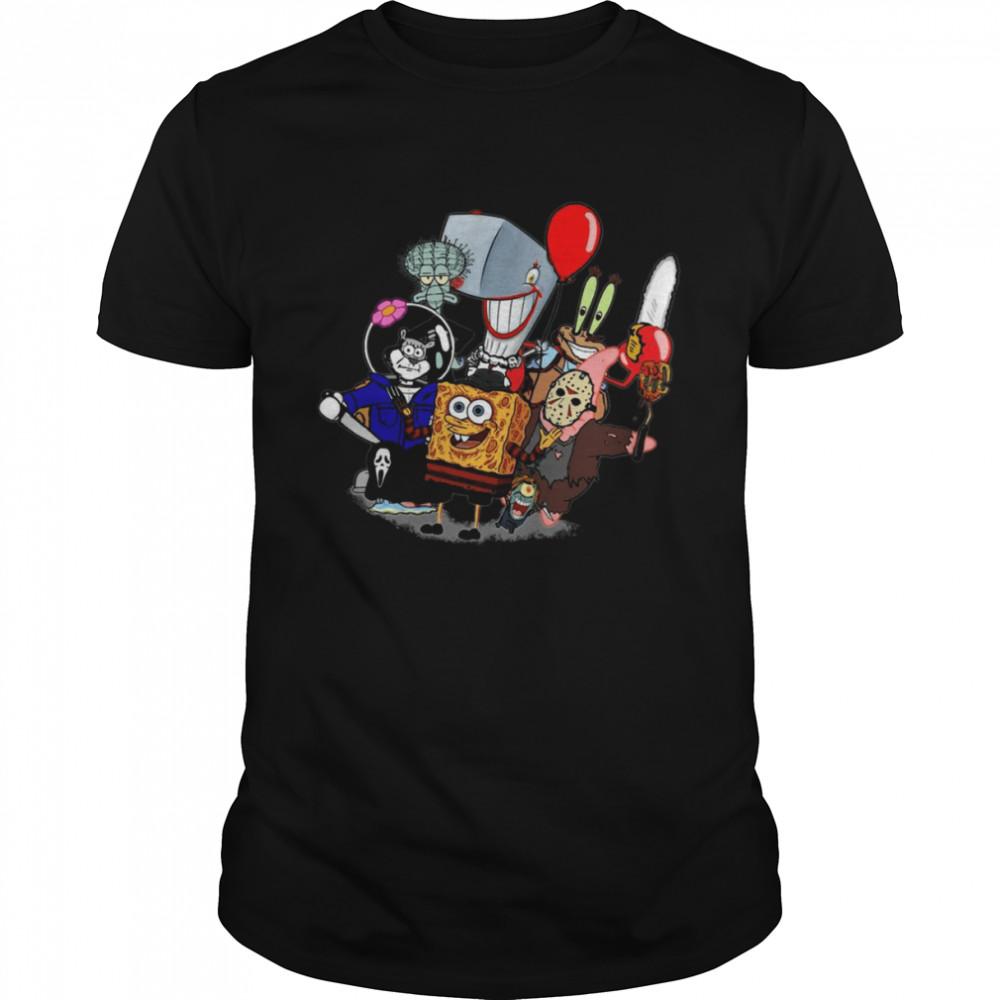 Sponge Bob Horror shirt Classic Men's T-shirt