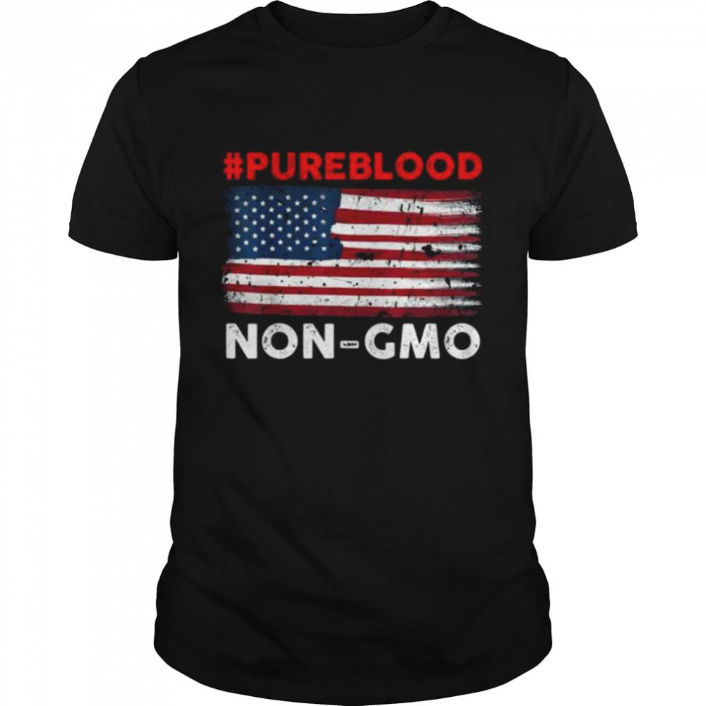 #Pureblood Non-Gmo American flag shirt Classic Men's T-shirt