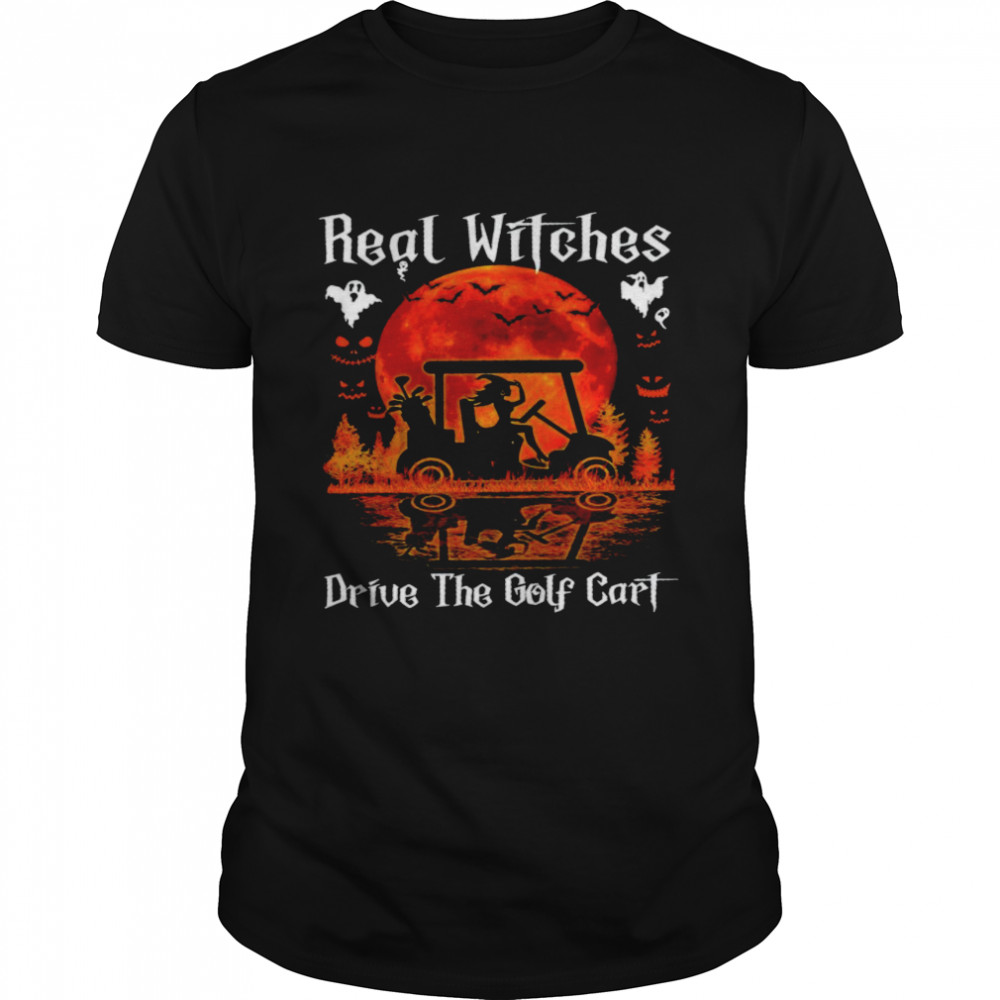 Real witches drive the golf cart shirt Classic Men's T-shirt