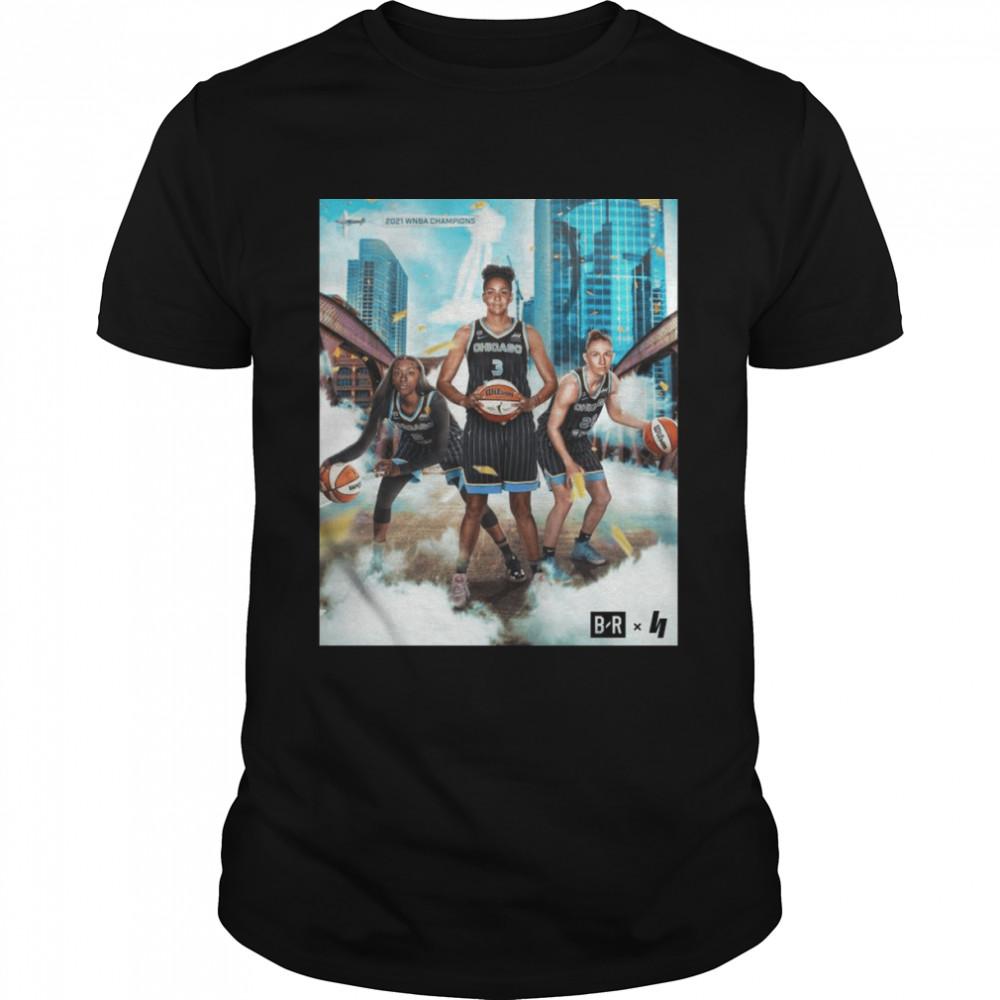 2021 WNBA Champions Chicago Sky Basketball  Classic Men's T-shirt